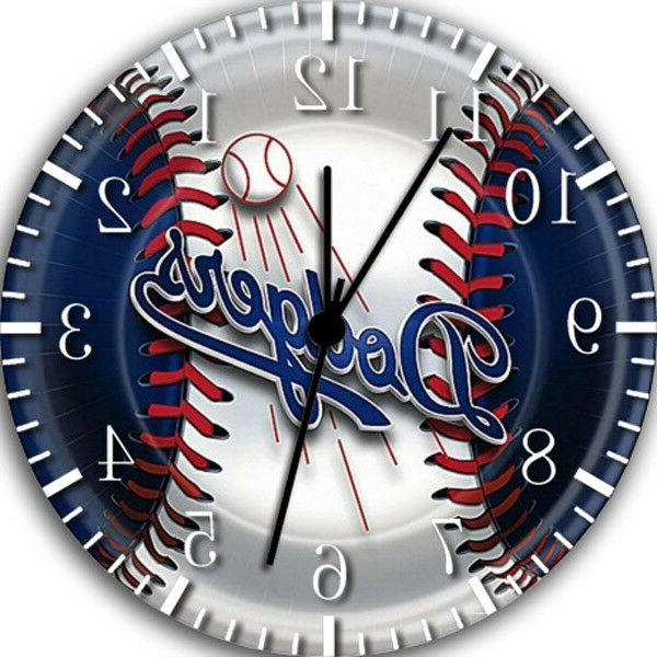 los angeles dodgers borderless wall clock