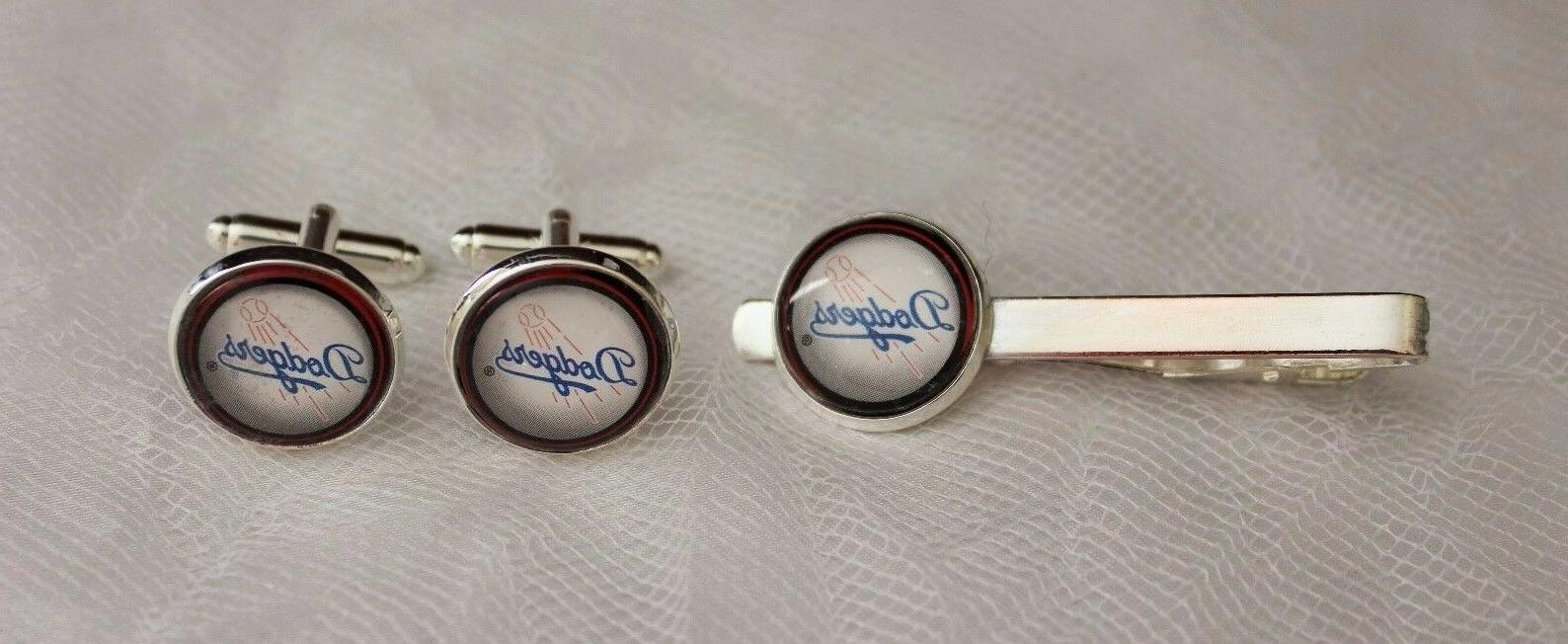 los angeles dodgers cuff links and tie