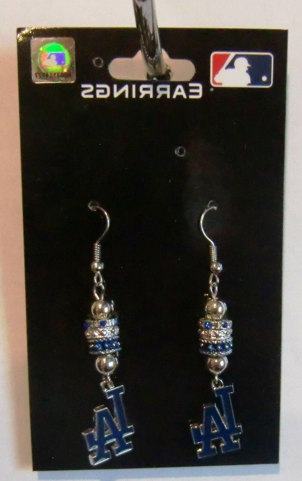 Los Angeles Earrings Licensed MLB Baseball Jewelry