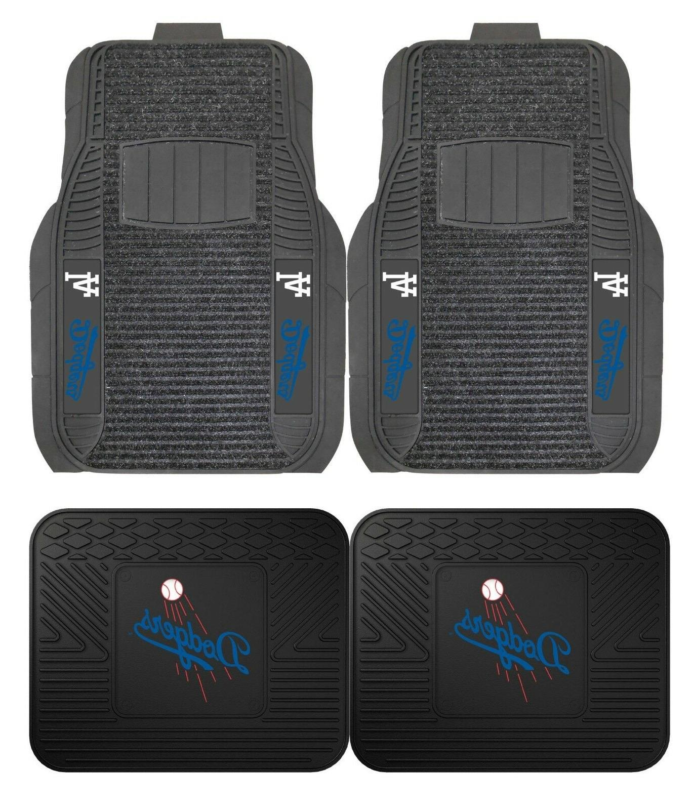 los angeles dodgers deluxe auto floor mats