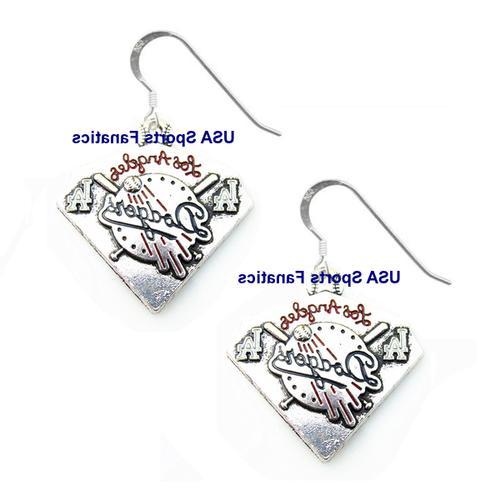 los angeles dodgers diamond style earrings