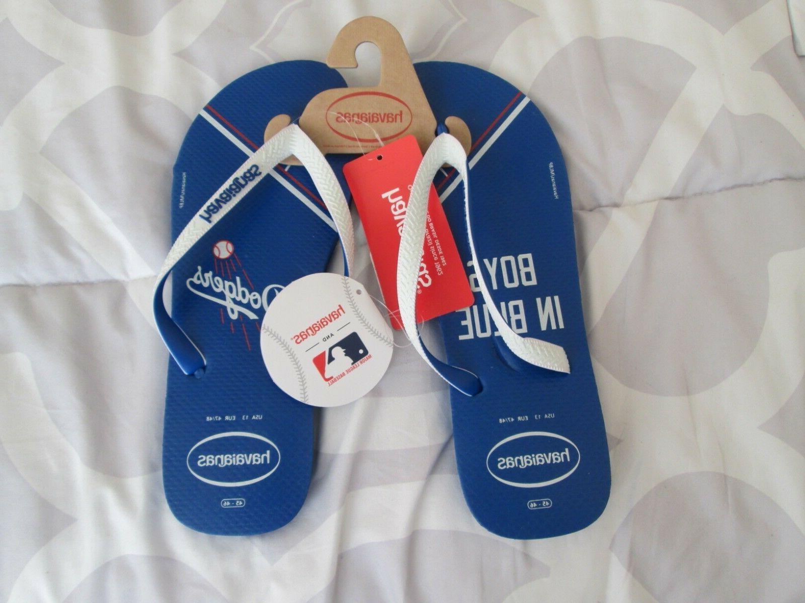 los angeles dodgers flip flops sandals havaianas