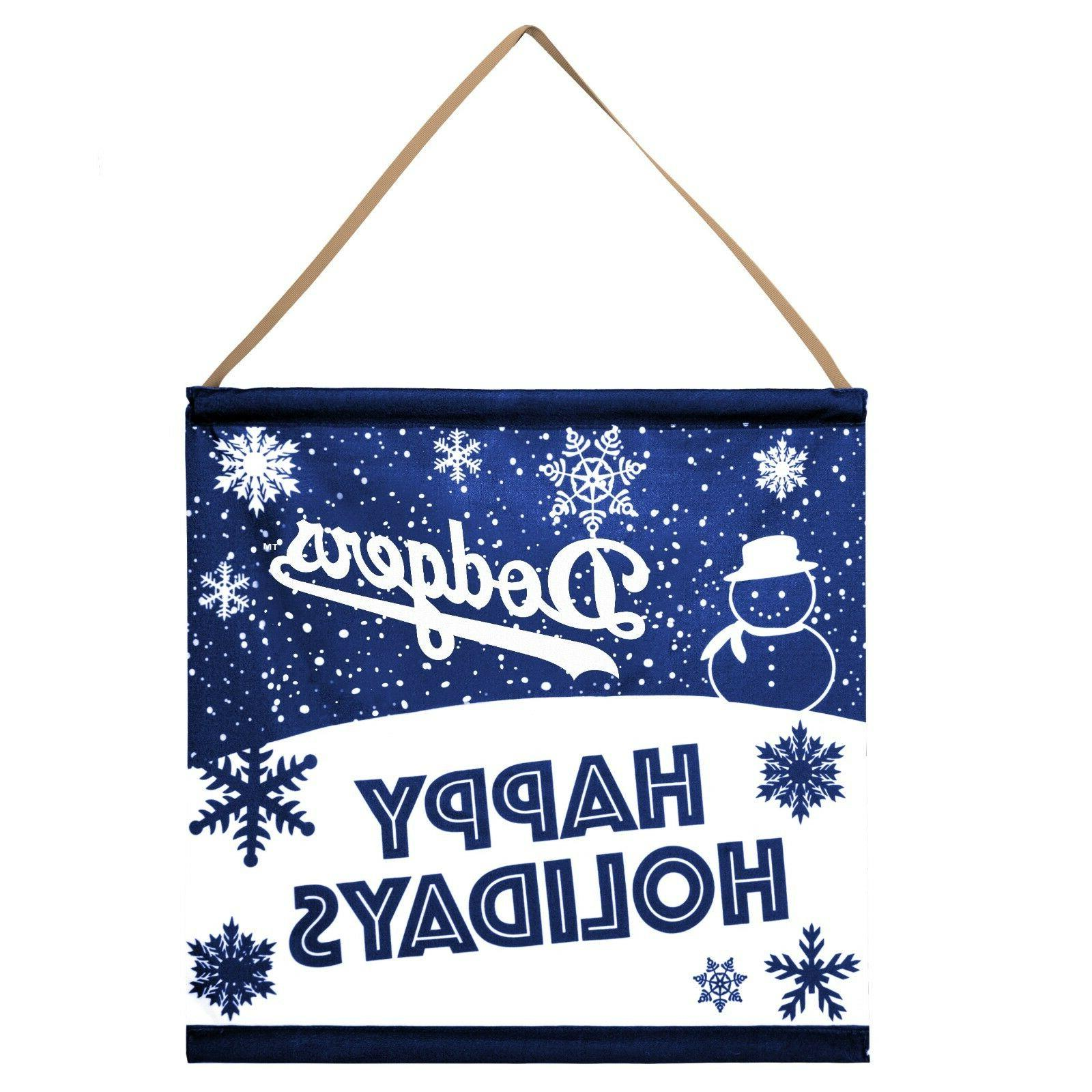 los angeles dodgers happy holidays banner sign