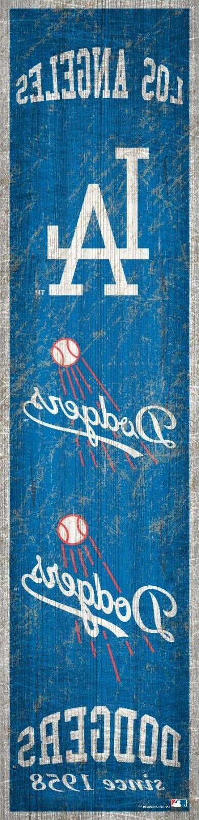 los angeles dodgers heritage banner retro logo