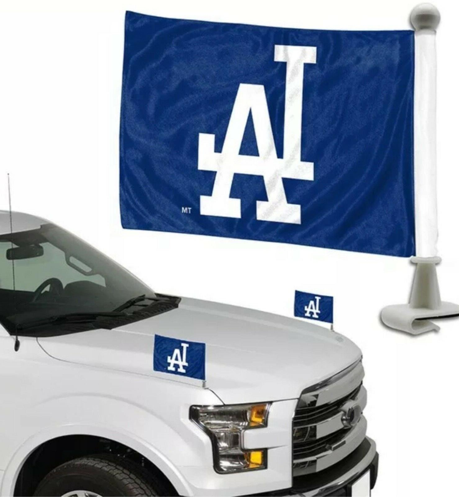 los angeles dodgers mlb ambassador car flags
