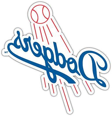 los angeles dodgers mlb baseball car bumper