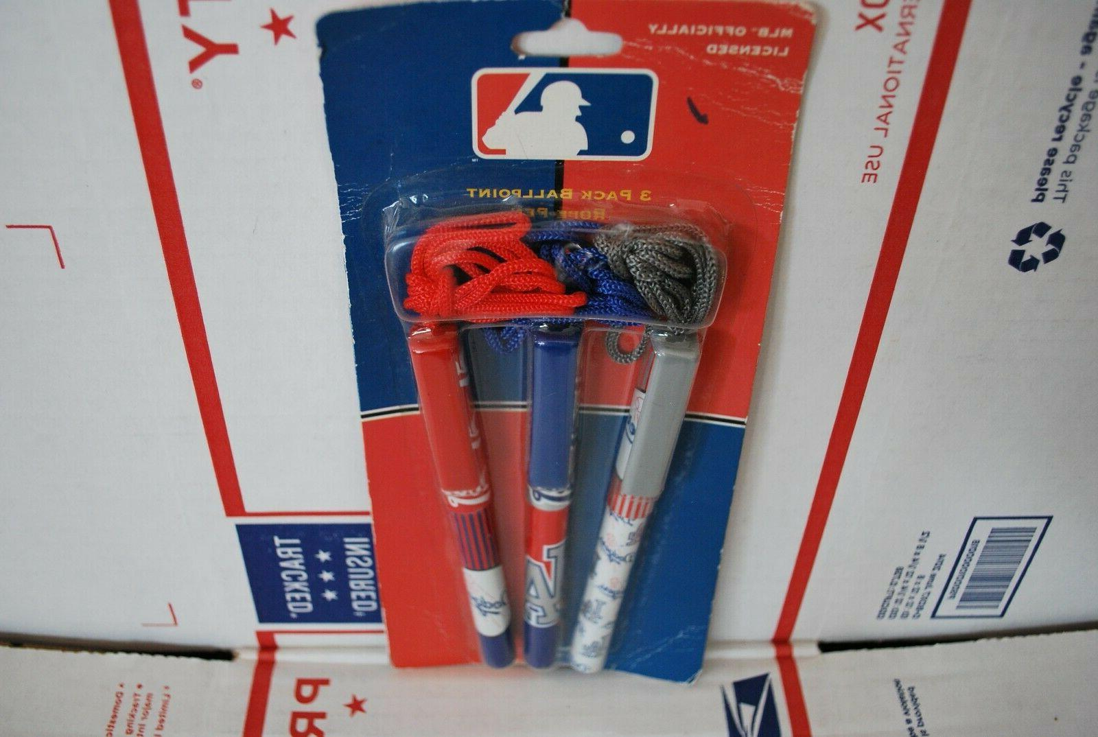 Los Dodgers MLB Officially 3 Packs Ballpoint Rope Pen