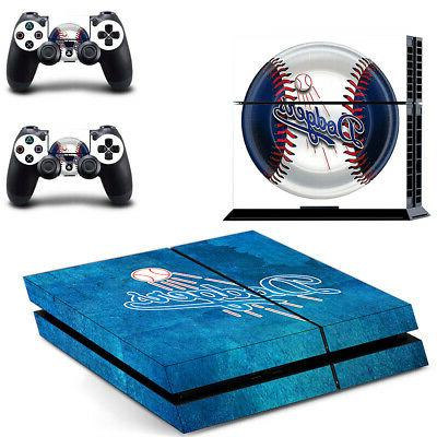 Los Angeles Dodgers PS4 Skin Sticker Decal Vinyl Console+2 c