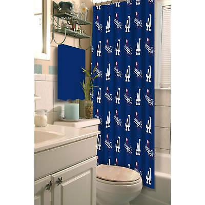 los angeles dodgers shower curtain royal