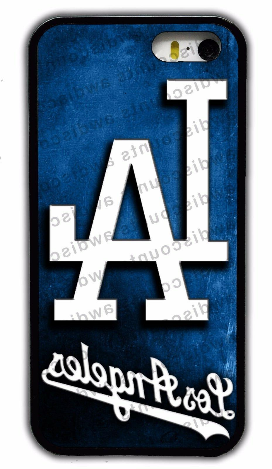 los angeles la dodgers rubber phone case