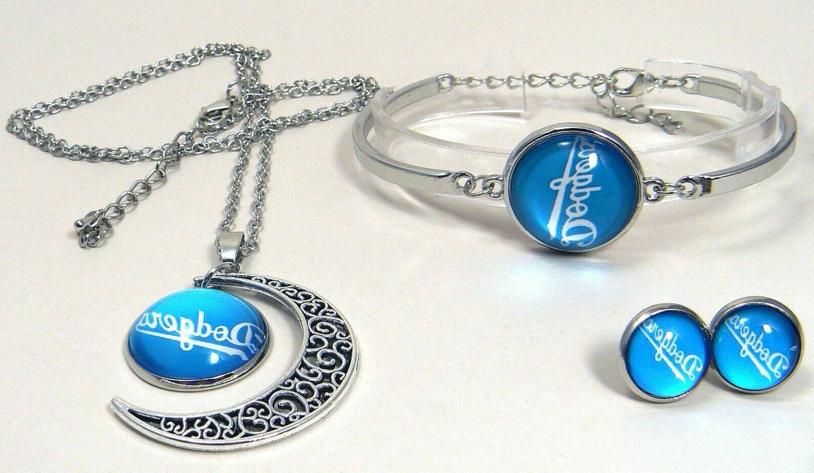 M65 Los Dodgers team bracelet, earrings-
