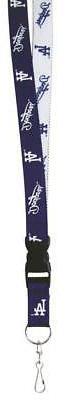 """MLB LA Dodgers Logo Key Holder Color Lanyard  22"""" Officially"""