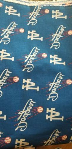 MLB LOS ANGELES DODGERS COOL L. A. LOGO NEW COTTON FABRIC LA