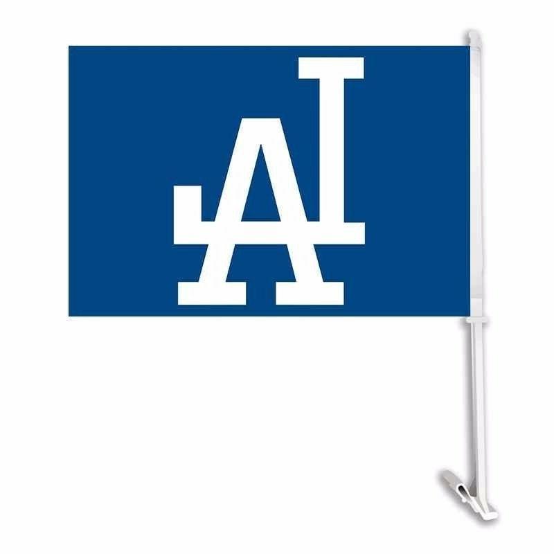 new los angeles dodgers car flag blue