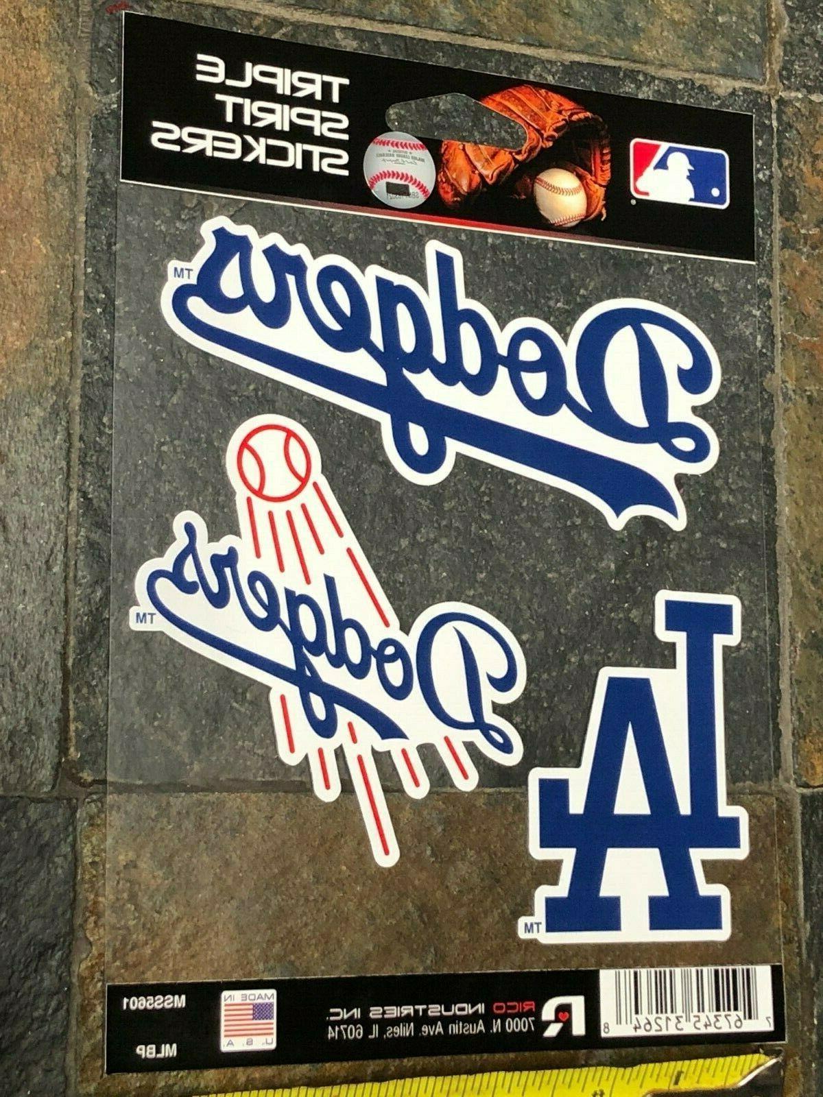 Triple Spirit Stickers -Three Pack Los Dodgers -