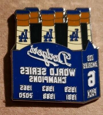 world series la 6 pack lapel pin
