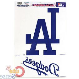 LA Dodgers  Auto Window Clings Decal 11x17 Big Logos MLB Aut