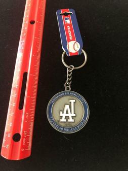 LA Los Angeles Dodgers 2 Sided Keychain Logo / Stadium Key R