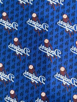 LA Los Angeles Dodgers Fabric 1/4 Yard X44inches Cotton