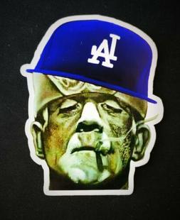LA Los Angeles Dodgers Frankenstein 3x4 Vinyl Sticker Decal