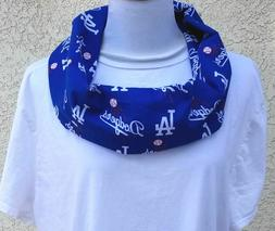 LA Los Angeles Dodgers MLB Blue Fabric Womens Ladies Scarf M