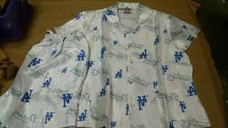 LA Los Angeles Dodgers Women's Pajama Shirt and shorts Whi