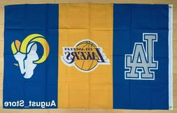 LA Los Angeles Teams Dodgers Lakers Rams Flag 3x5 ft Banner
