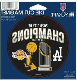 "Los Angeles Dodgers and Lakers 2020 City of Champions 4.5"" x"