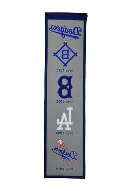 LOS ANGELES BROOKLYN DODGERS EMBROIDERED WOOL HERITAGE BANNE