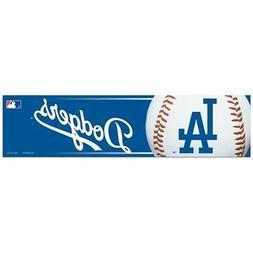 LOS ANGELES DODGERS ~  3x12 Self Adhesive MLB Bumper Sticker