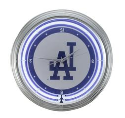 MLB Los Angeles Dodgers 15 inch Neon Wall or Tabletop Clock