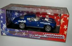 LOS ANGELES DODGERS 1963 CORVETTE DIECAST CAR 1:18 SCALE AME