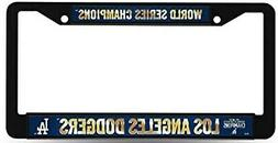 Los Angeles Dodgers 2020 Champions Black Plastic License Pla