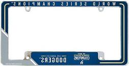 Los Angeles Dodgers 2020 Champions Chrome Frame Metal Licens