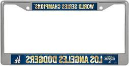 Los Angeles Dodgers 2020 Champions Metal License Plate Frame