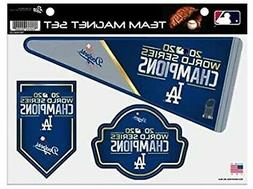 Los Angeles Dodgers 2020 Champions Multi Magnet Sheet Heavy