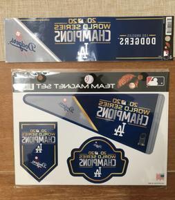 Los Angeles Dodgers 2020 Champions Multi Magnet Sheet + Bump