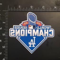 Los Angeles Dodgers 2020 World Series Champions Vinyl Sticke
