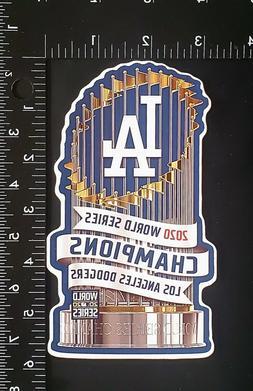Los Angeles Dodgers 2020 World Series Champions Trophy Vinyl