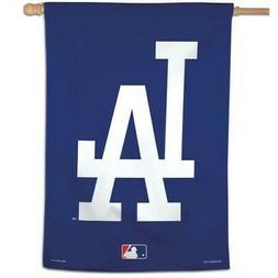 "LOS ANGELES DODGERS 28""X40"" HOUSE FLAG OR WALL BANNER MLB LI"