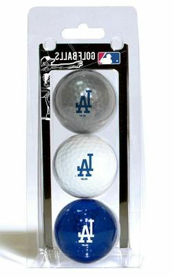 Los Angeles Dodgers 3 Pack of Team Logo Golf Balls MLB Baseb