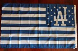 Los Angeles Dodgers 3x5 American Flag. US seller. Free shipp