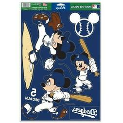 """LOS ANGELES DODGERS 5 PIECE MICKEY MOUSE DECALS 11""""X17"""" WALL"""