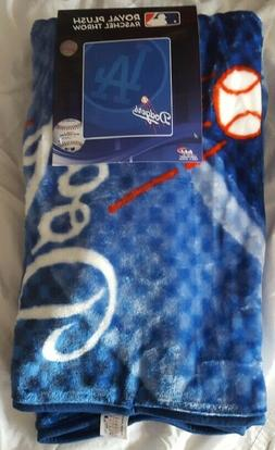 "Los Angeles Dodgers 50"" by 60"" Plush Raschel Throw Blanket -"