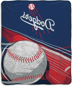 "Los Angeles Dodgers 50"" by 60"" Sherpa Throw Blanket - MLB"