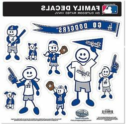 Los Angeles Dodgers 9 Piece Jumbo Family Decals  Auto Car St