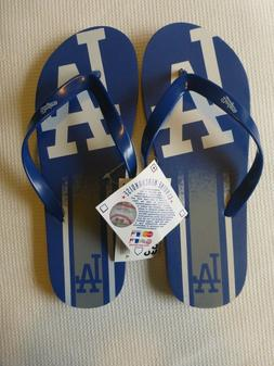 los angeles dodgers adult sandals thongs size