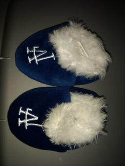 Los Angeles Dodgers Baby Slippers Blue Size Medium