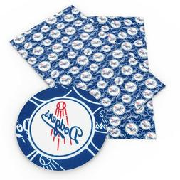 LOS ANGELES DODGERS BASEBALL 100% Cotton Fabric Material 19""
