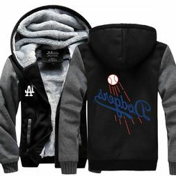 Los Angeles Dodgers Baseball Hoodie Zip up Jacket Coat Winte